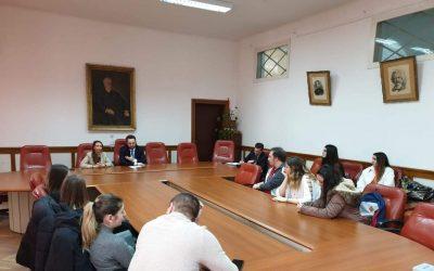 Întâlnirea președintelui UUR сu studenții de la Facultatea de Limbi și Literaturi Străine – 3 martie 2020, București