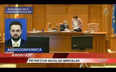 Nicolae Miroslav Petrețchi face apel la responsabilitate în privința coronavirusului