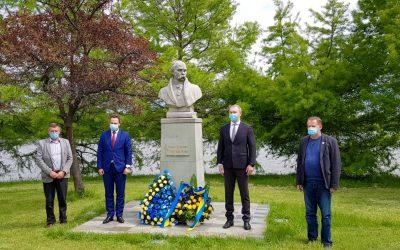 Ceremonie dedicata poetului național ucrainean Taras Șevcenko la București