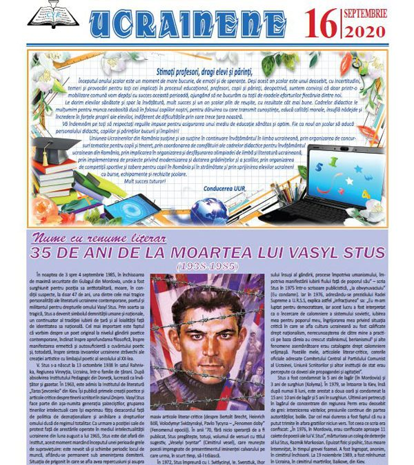 Ecouri ucrainene Nr. 16, septembrie 2020