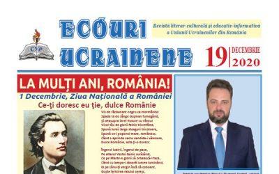 Ecouri ucrainene nr. 19, decembrie 2020