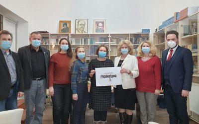 """Ucrainenii din România s-au alăturat flashmob-ului """"Ucraina unită"""""""