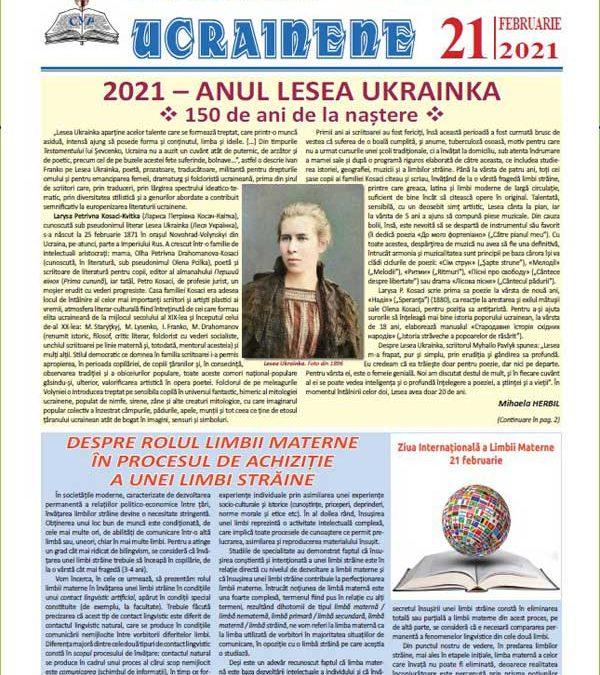 Ecouri ucrainene nr. 21, februarie 2021