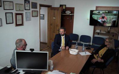 Întâlnire de lucru cu directorul Studioului Teritorial TVR Cluj, Alin Gelmărean