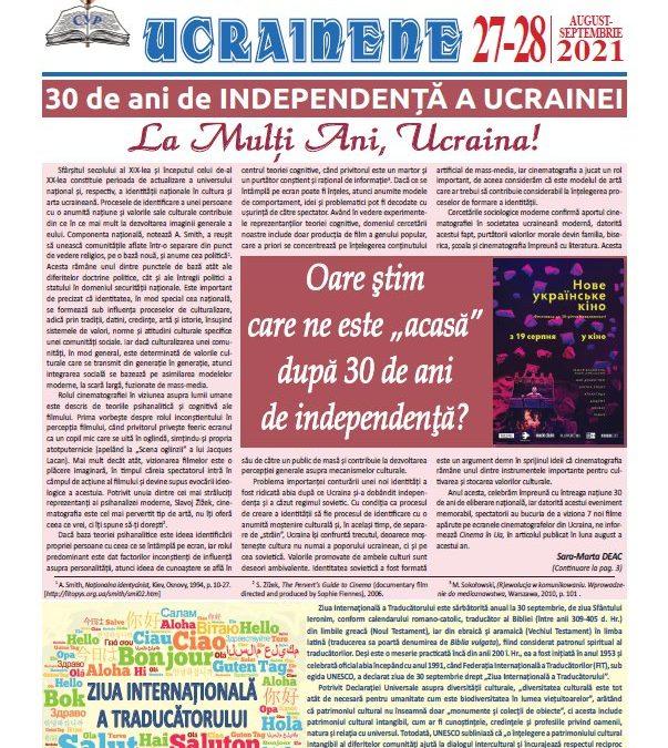 Ecouri ucrainene nr. 27-28 august-septembrie 2021